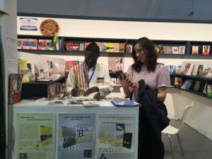 July Blalack with Prince Kum'a Ndumbe III, editor of Le Trésor Des Manuscrits De Timbuktu