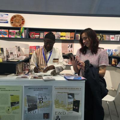 Blalack with Prince Kum'a Ndumbe III, editor of Le Trésor Des Manuscrits De Timbuktu