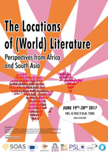 Poster of the conference The Locations of (World) Literature: perspectives from Africa and South Asia