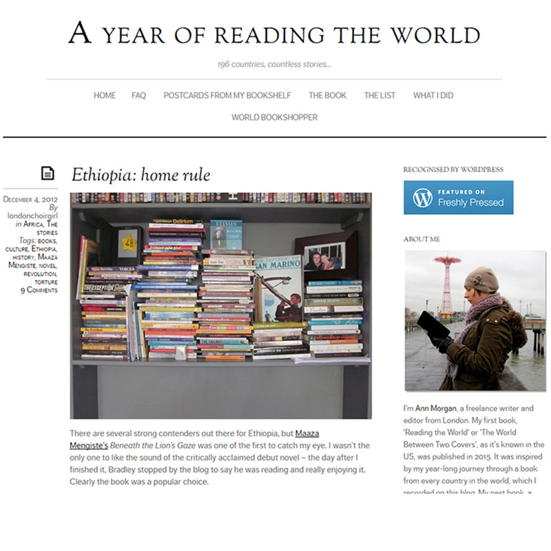 A Year of Reading the World blog by Ann Morgan