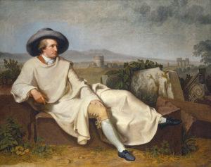 Goethe in the Roman Campagna (1787) by Johann Heinrich Wilhelm Tischbein (1751-1829)