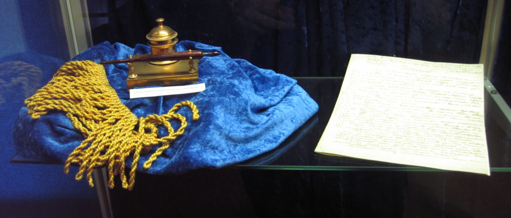 Nobel Prize founder Alfred Nobel's will and inkhorn by Tomas Er