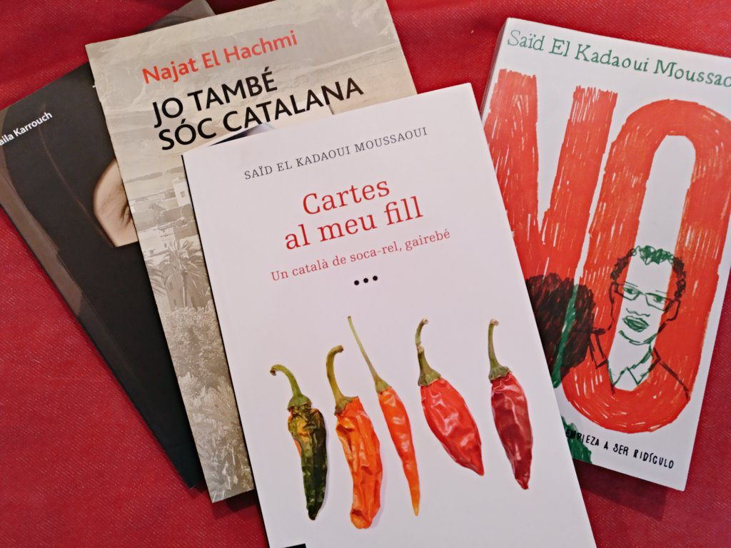 Covers of some of the books by El Kadaoui, El Hachmi, and Karrouch
