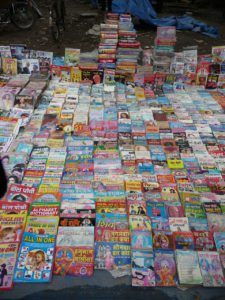 Hindi books on Allahbad footpath