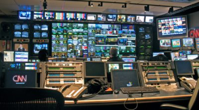 Control Room of the CNN: A place where Western afro-pessimism media images emerge. Photo by Michael Newman.