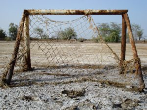 football goal post, Senegal