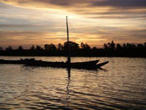Traditional fishing Pirogues