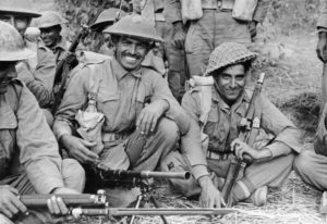An Indian section of the 2nd Battalion, 7th Rajput Regiment about to go on patrol on the Arakan front in Burma - a geography mentioned in Farthest Field