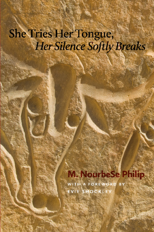 M. NourbeSe Philip, She Tries Her Tongue, Her Silence Softly Breaks (1989) book cover. Destroying the english language in world literature